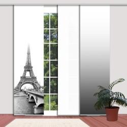 """Beispiel für Kombination von Farbverläufen mit dem Schiebevorhang """"Paris"""" - Eiffelturm incl. Paneelwagen"""