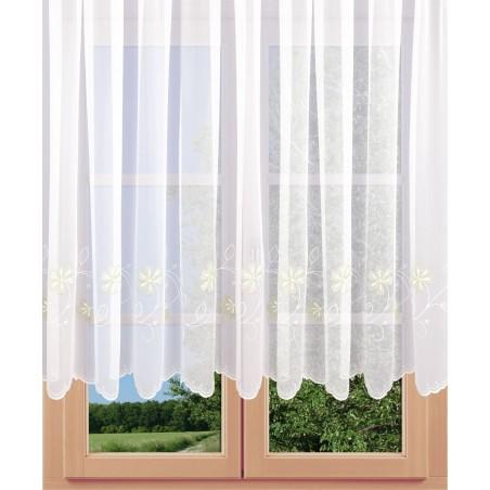 Stickerei-Langstore Blütenstickerei am Fenster