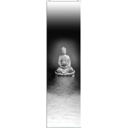 """Flächenvorhang """"Zen Buddha""""  - incl. Paneelwagen und Klemmleiste"""