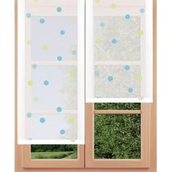 Flächengardine Fensterstore 'Punkte Pastell' modern an einem Fenster