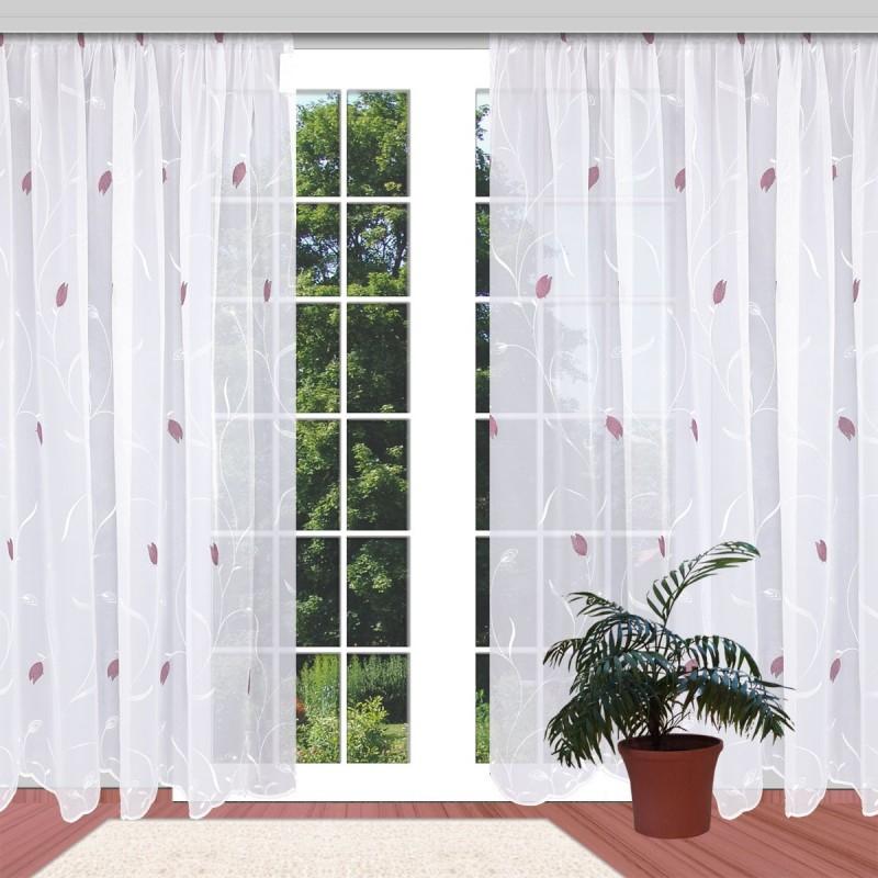 Stickereistore Tulpe an einem Fenster