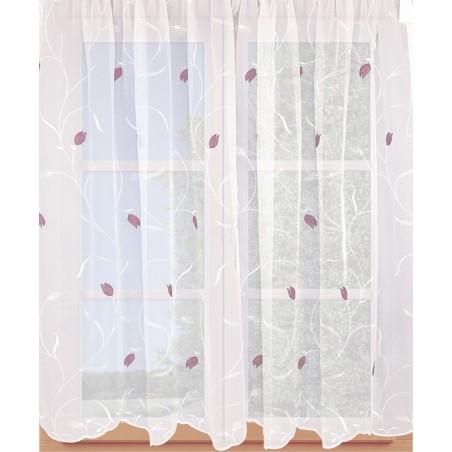 Stickereistore Tulpe an einem Sprossenfenster
