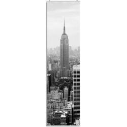 """Flächenvorhang """"New York""""  -  Skyline  - incl. Paneelwagen und Klemmleiste"""