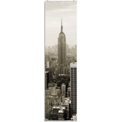 """Flächenvorhang """"New York""""  -  Sepia  - incl. Paneelwagen und Klemmleiste"""