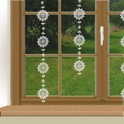 Girlande Blumensterne Dekorantionsbeispiel an einem Fenster