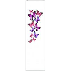 """Schiebevorhang """"Butterfly"""" - Schmetterlinge - incl. Paneelwagen und Klemmleiste"""