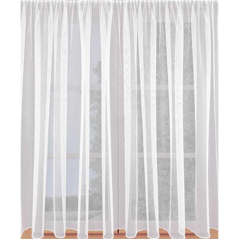 Fertigstore Rawa halbtransparent weiß an einem Fenster