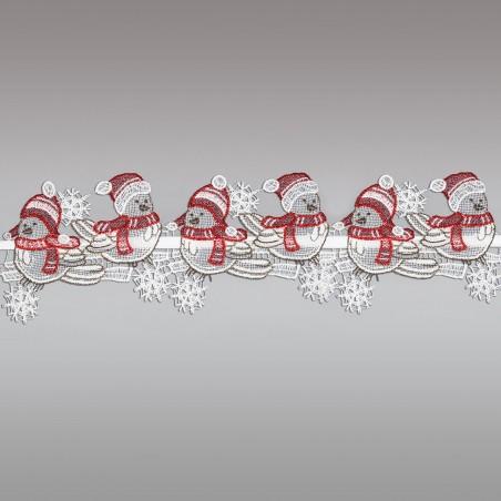 Weihnachts-Feenhausspitze WINTER-SPATZEN  Detailansicht