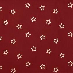 Weihnachts-Scheibenhänger Sterne bordeaux Stoffmuster