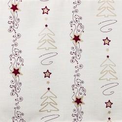 Weihnachts-Scheibenhänger Moderner Tannenbaum Stoffmuster