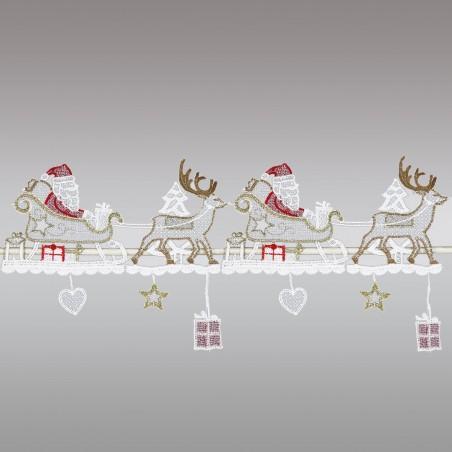 Feenhausspitze Renntierschlitten mit Weihnachtsmann Ausschnitt