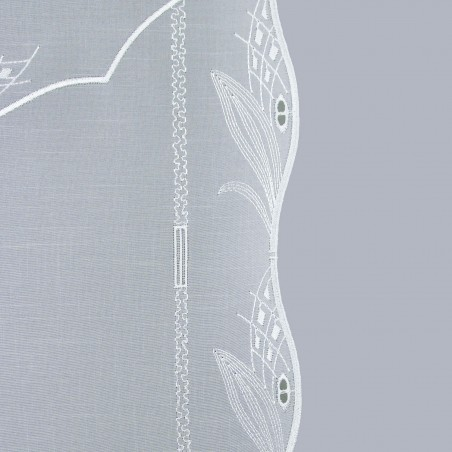 Scheibenhänger Blüte in Grau Seitenkante