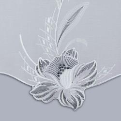 Scheibenhänger Blüte in Grau Unterkante