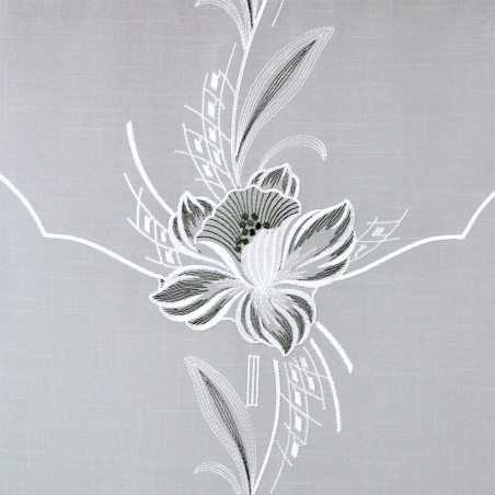 Scheibenhänger Blüte in Grau Detailansicht
