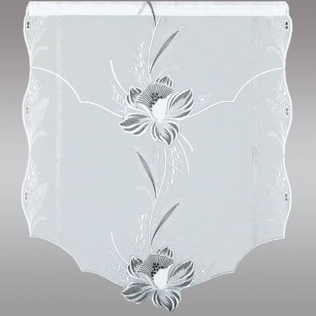 Scheibenhänger Blüte in Grau Einzelansicht