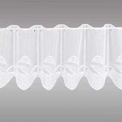 Scheibengardine Sari weiß 30 cm