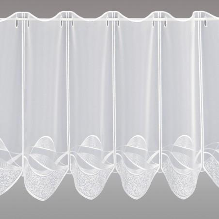 Scheibengardine Sari weiß 45 cm