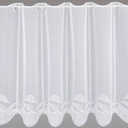 Scheibengardine Sari weiß 60 cm