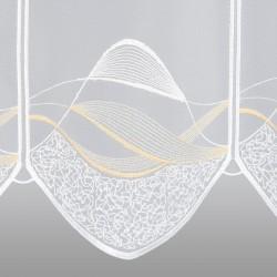 Scheibengardine Sari ocker/gelb Detailansicht
