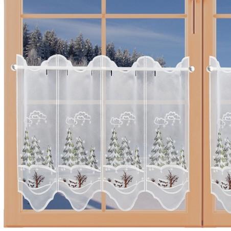 Scheibenhänger Wintertannen am Fenster