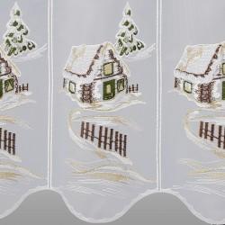 Winter-Panneau Haus im Schnee Detailansicht
